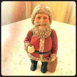 Vintage 1988 M.Holcombe Signed Santa Figurine